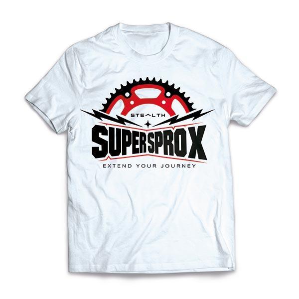 T-SHIRT UOMO RAGAZZO MOTO COTONE SUPERSPROX STEALTH WHITE TG S OFFERTA!