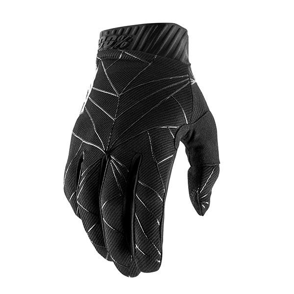 GUANTI 100% RIDEFIT BLACK WHITE XL
