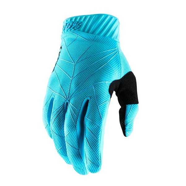 GUANTI 100% RIDEFIT ICE BLUE BLACK L