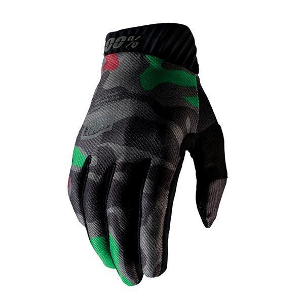 GUANTI 100% MOTO CROSS TRIAL ENDURO MTB RIDEFIT BLACK CAMO (XL)