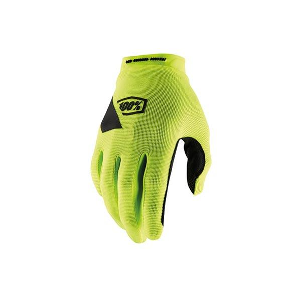 GUANTI 100% RIDECAMP FLUO YELLOW (L) MOTO CROSS ENDURO TRIAL MTB