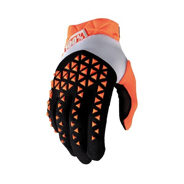 GUANTI 100% AIRMATIC ORANGE BLACK (S) MTB MOTO CROSS ENDURO TRIAL TOP QUALITY