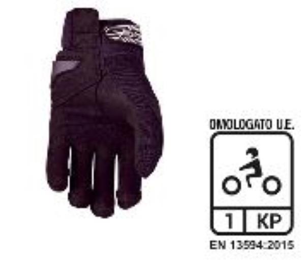 GUANTI BAMBINO SPANDEX MOTO URBAN STREET MTB FIVE RS3 KID BLACK WHITE (L)