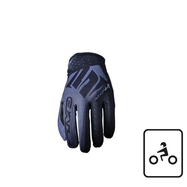 GUANTI MOTO CROSS ENDURO TRIAL OFFROAD MTB FIVE MXF4 BLACK (XXXL)