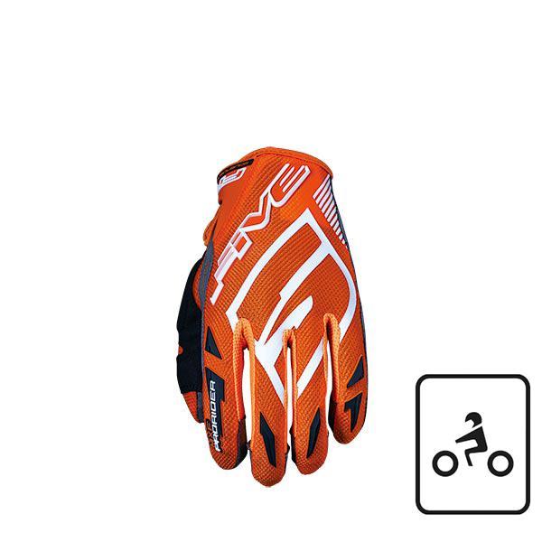 GUANTI FIVE MXF PROTETTIVI MOTO MTB PRORIDER S ORANGE (L)