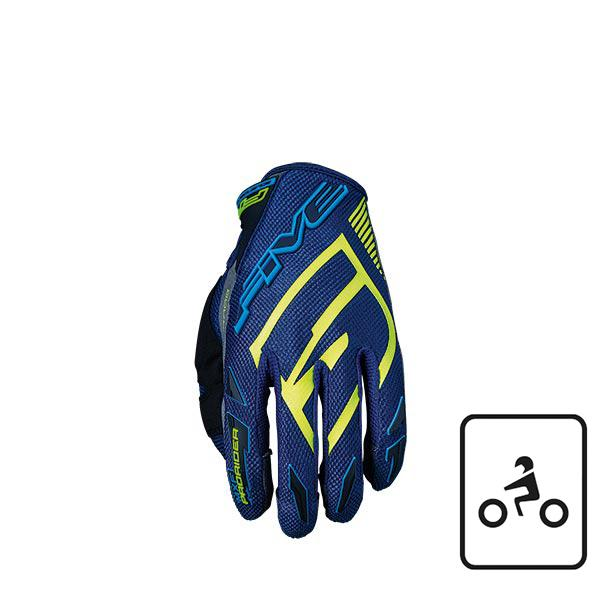 GUANTI FIVE MXF MOTO MTB PROTETTIVI PRORIDER S GREEN WATER FLUO YELLOW (L)