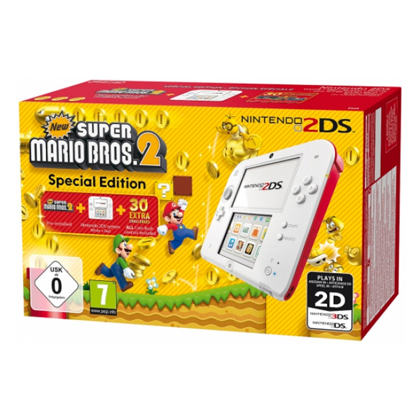 Nintendo 2DS HW + New Super Mario Bros 2 Nintendo 221843 4 GB