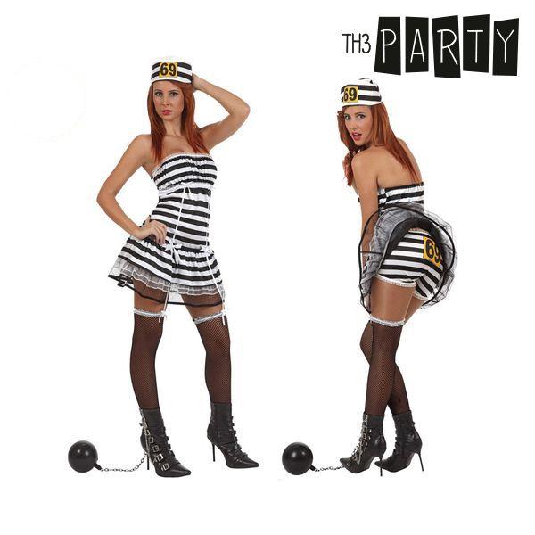 Costume per Adulti Th3 Party Carcerata sexy Taglia:XS/S S1100695
