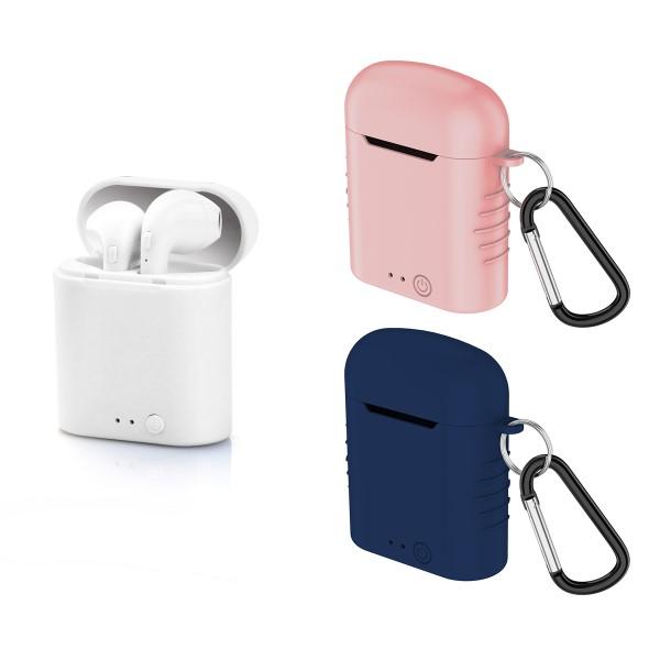 Auricolari-Bluetooth-con-Microfono-Contact-Twins-Mini-400-mAh-Bianco