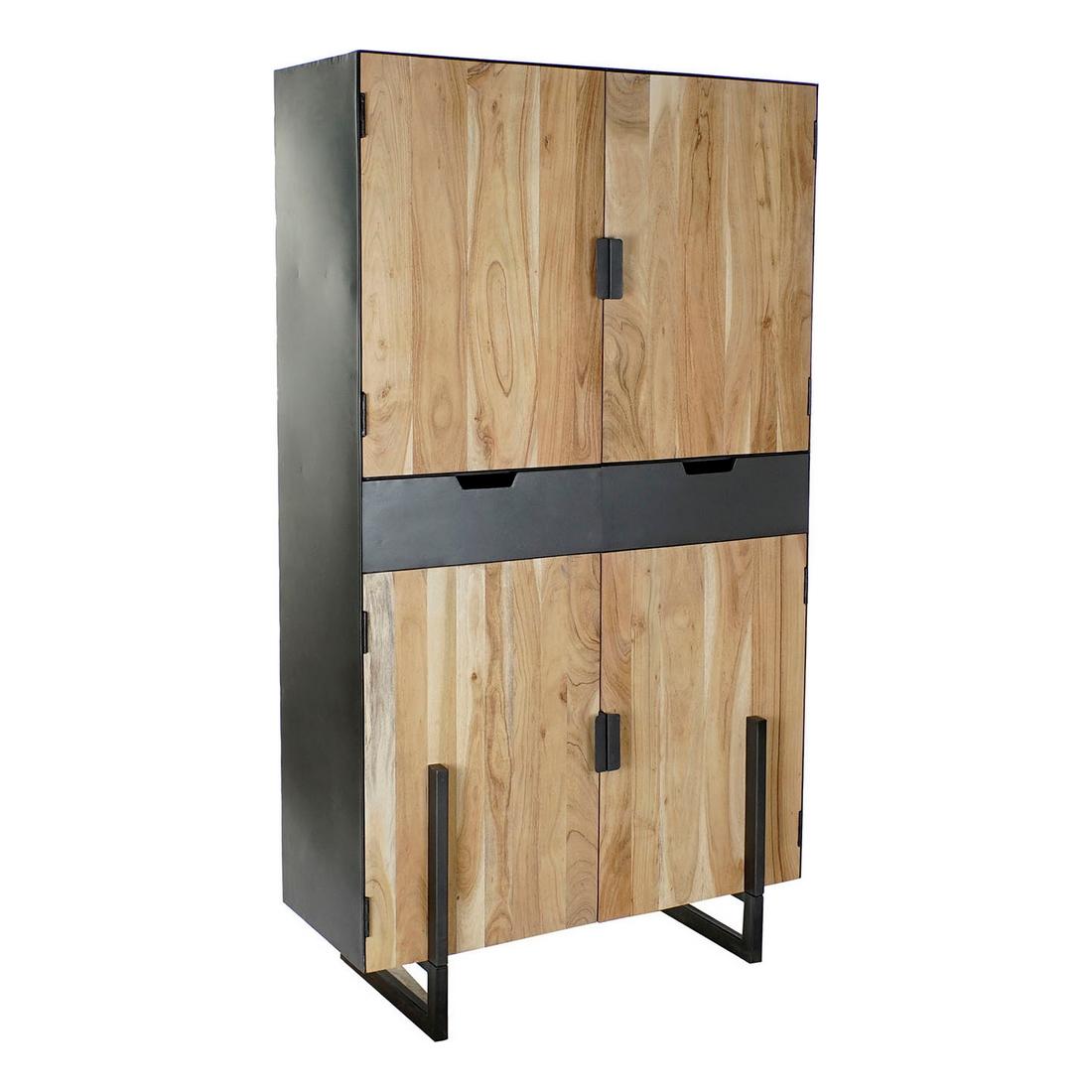 Armadio DKD Home Decor Metallo Acacia (100 x 45 x 185 cm)