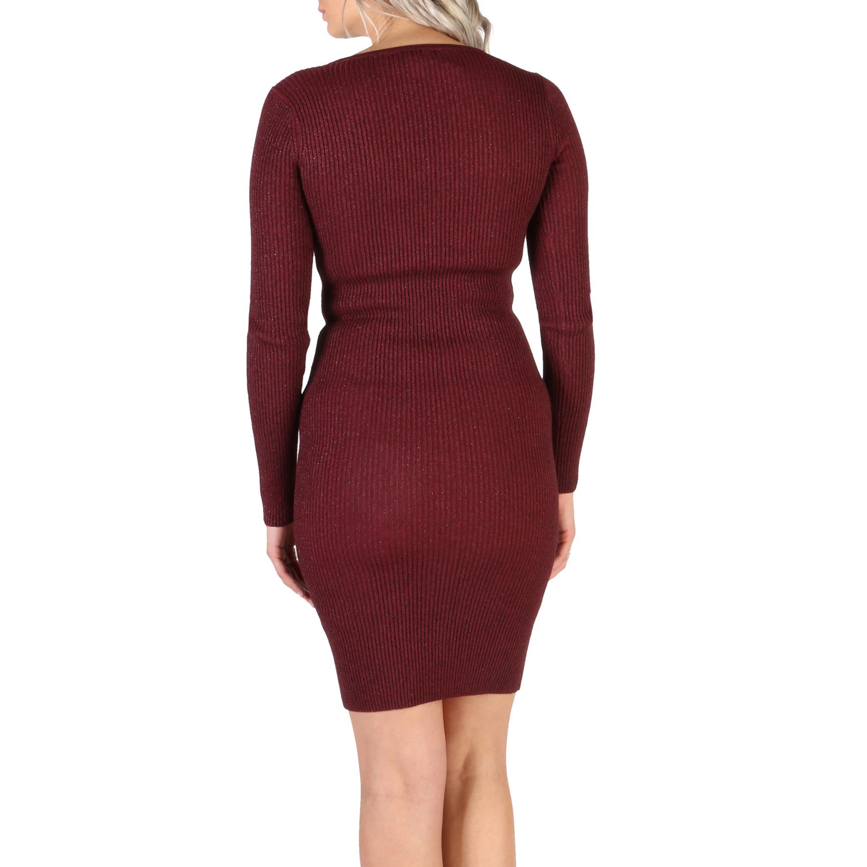 Guess W83K05_R1IB0 Damen Rot 106818 Kleid V-Ausschnitt NEU ...