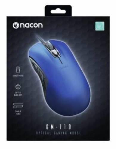 Nacon Mouse Ottico Gaming GM-110 Blu
