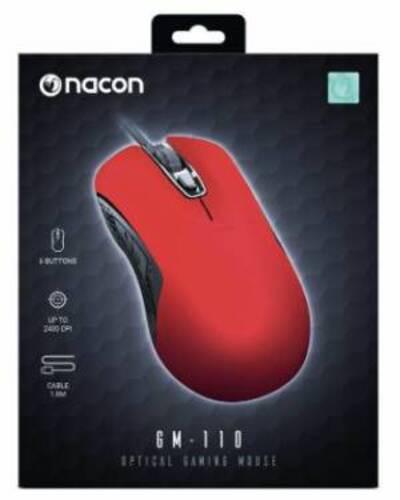 Nacon Mouse Ottico Gaming GM-110 Rosso