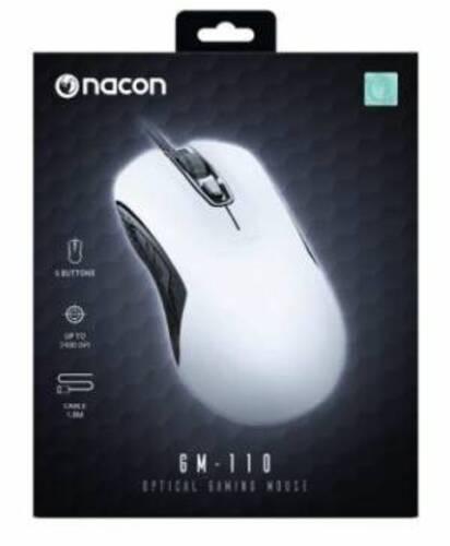 Nacon Mouse Ottico Gaming GM-110 Bianco