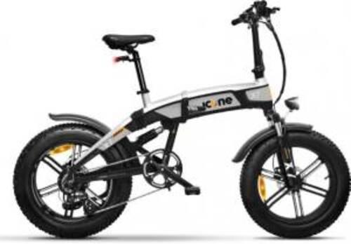 Icon.e Bici Elettrica Pieghevole iCross-X7 250W Blackened Silver