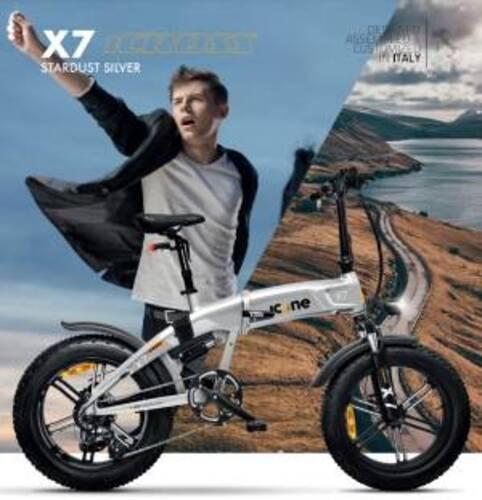 Icon.e Bici Elettrica Pieghevole iCross-X7 250W Stardust Silver