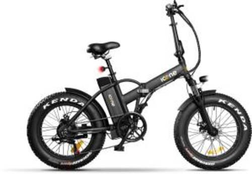 Icon.e Bici Elettrica Pieghevole E-Road Plus 250W Pure Black S