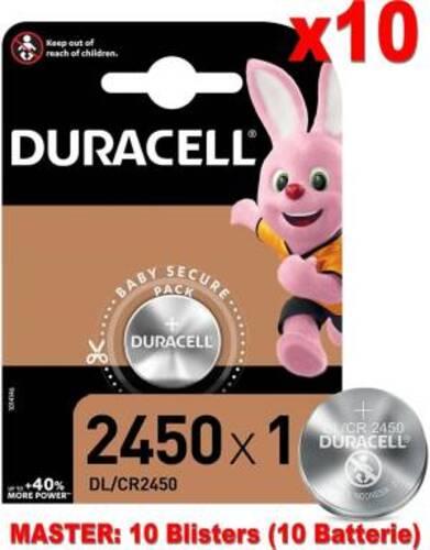 Duracell Lithium Batterie Bottone DL/CR2450 10pz