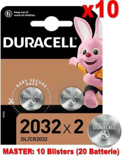 Duracell Lithium Batterie Bottone DL/CR2032 20pz