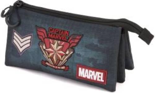 Karactermania Astuccio Triplo HS Captain Marvel Force 23.5cm