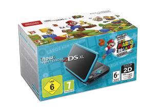 New 2DS XL Console Nero/Turchese + Super Mario 3D Land