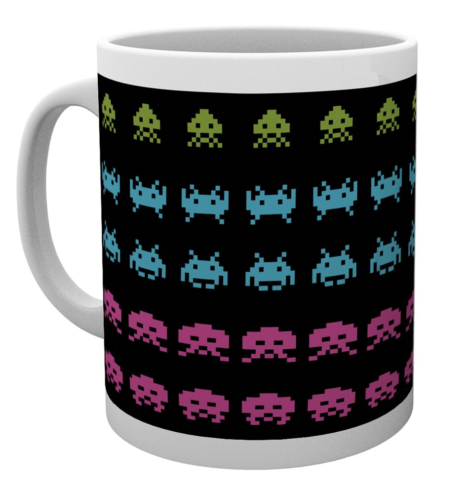 Merchandising Space Invaders: Invader Wrap (Tazza) NUOVO SIGILLATO SUBITO DISPONIBILE