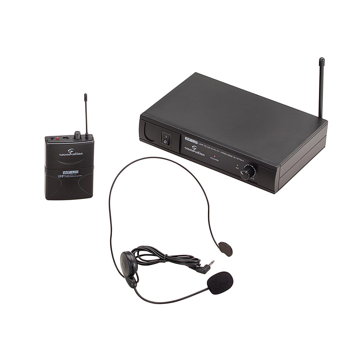 RADIOMICROFONO UHF SOUNDSATION WF-U11PD BODYPACK & HEADSET 865.00 MHz