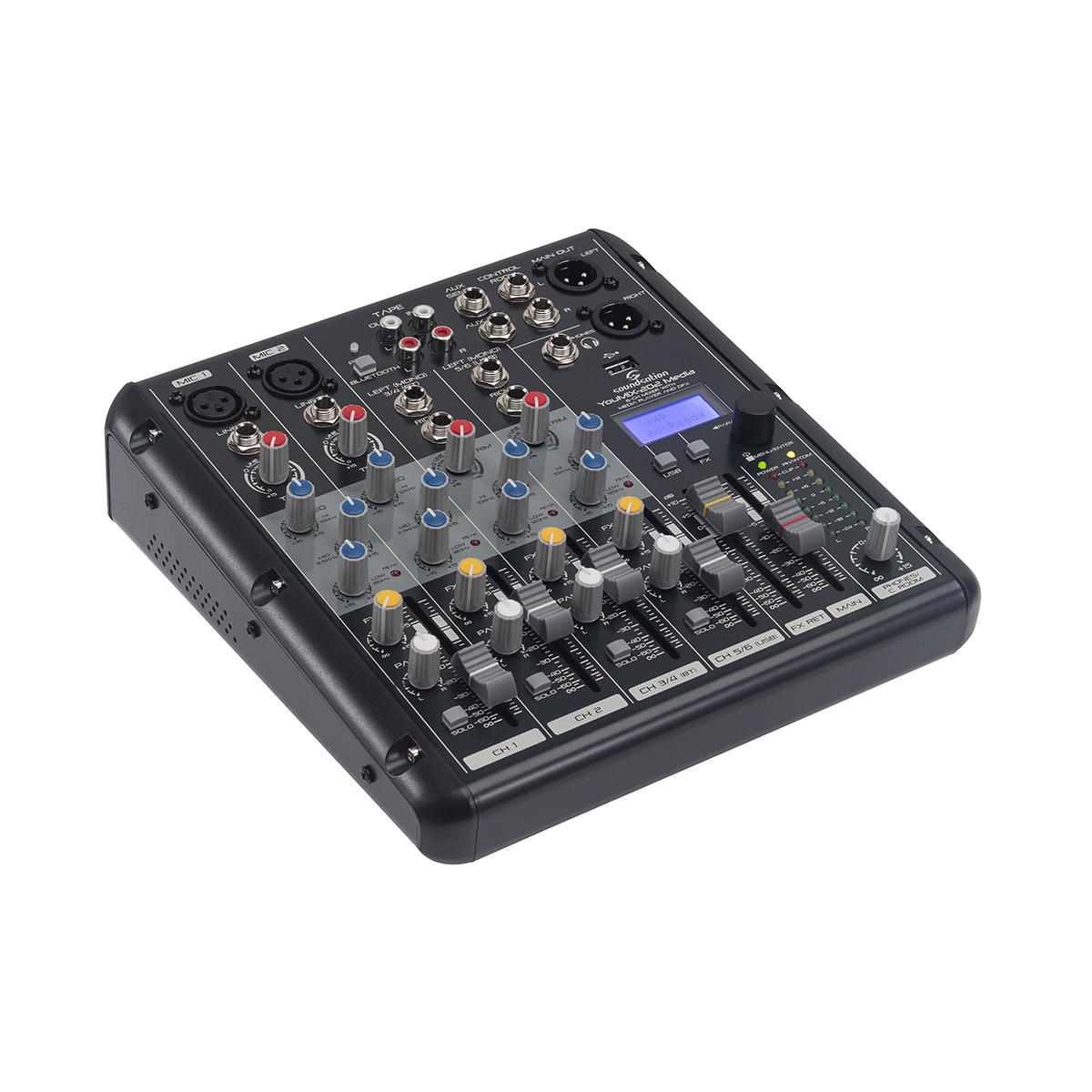 MIXER SOUNDSATION YOUMIX-202 MEDIA C/EFFETTI E LETTORE AUDIO