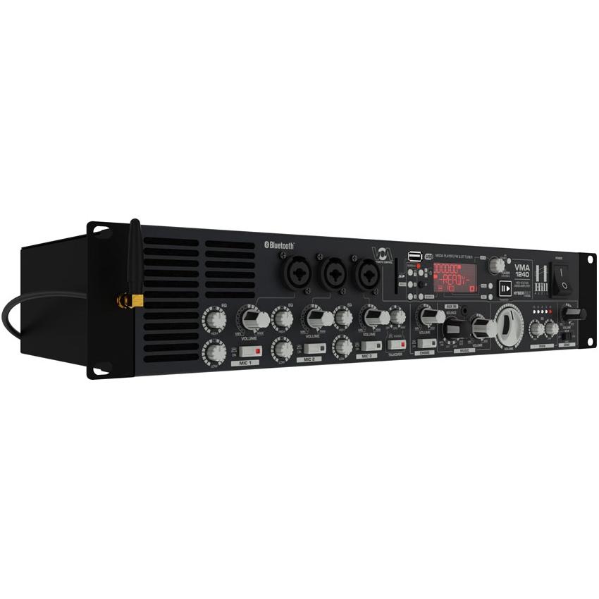 AMPLIFICATORE 100v & MEDIA PLAYER HILL-AUDIO VMA-1240B 2CH