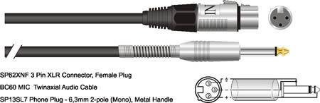 CAVO MICROFONICO MC61BK-100PD