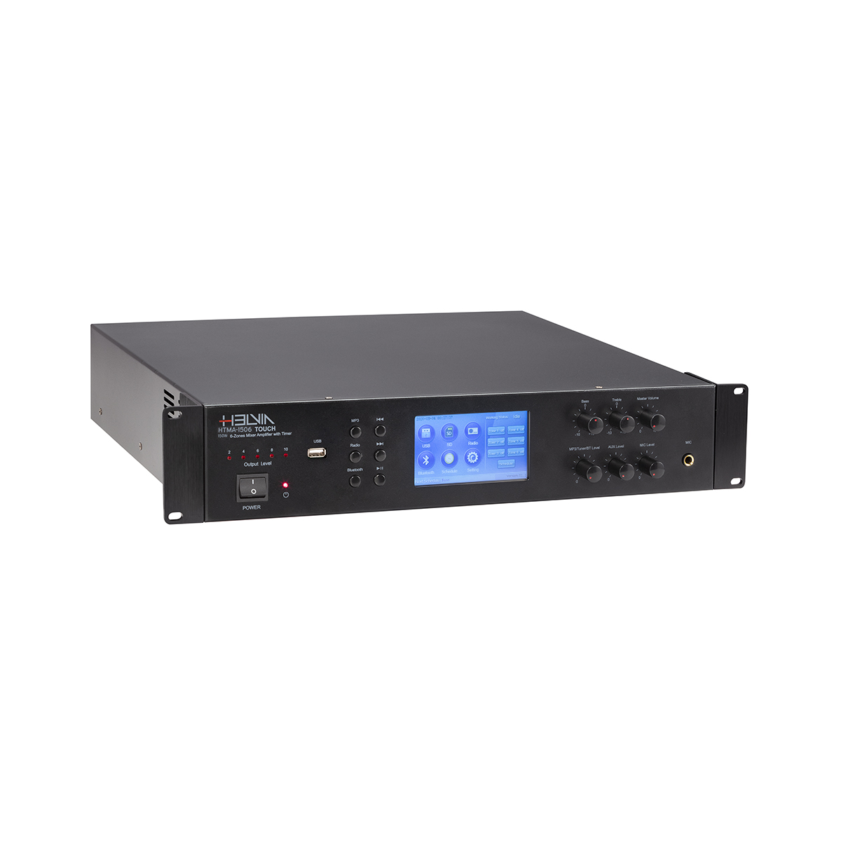 AMP MIXER HELVIA HTMA-1506 TOUCH 150W 6-ZONE TIMER