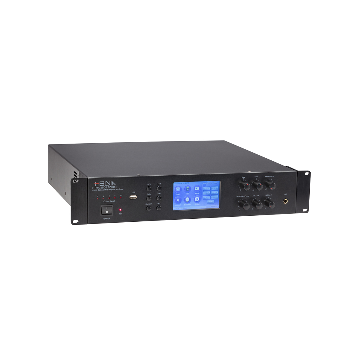 AMP MIXER HELVIA HTMA-2506 TOUCH 250W 6-ZONE TIMER