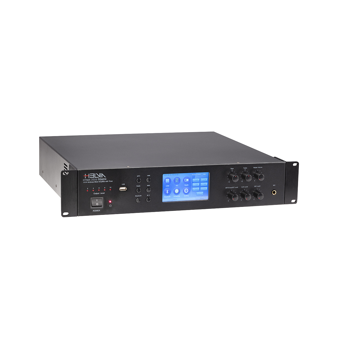 AMP MIXER HELVIA HTMA-3506 TOUCH 350W 6-ZONE TIMER