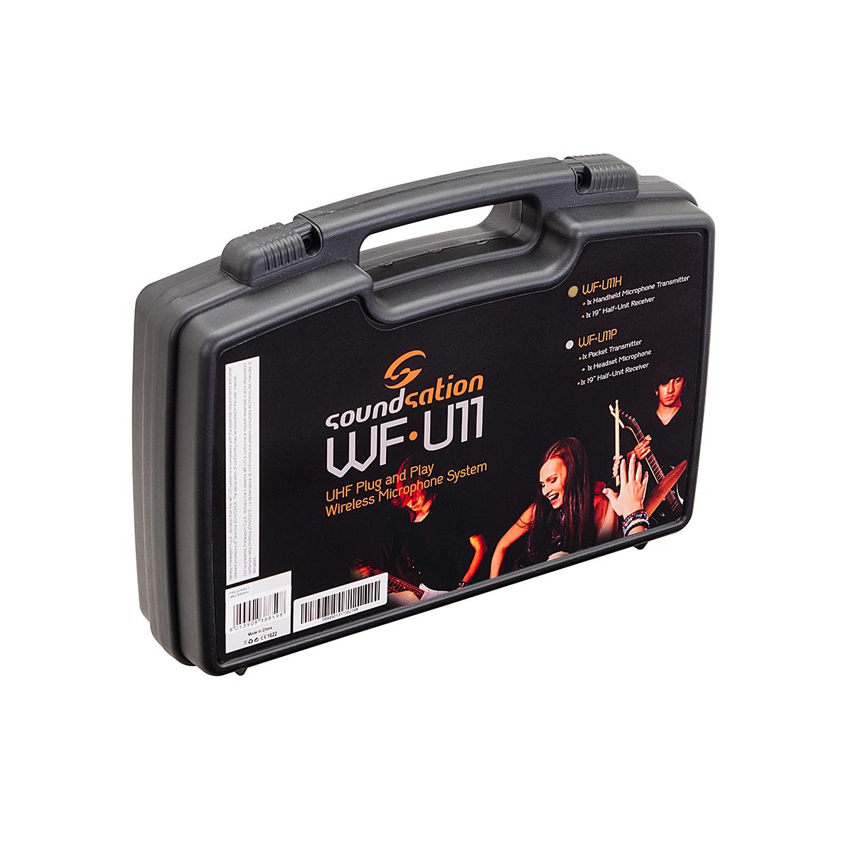 RADIOMICROFONO UHF SOUNDSATION WF-U11HD TX A MANO 865.00 MHz