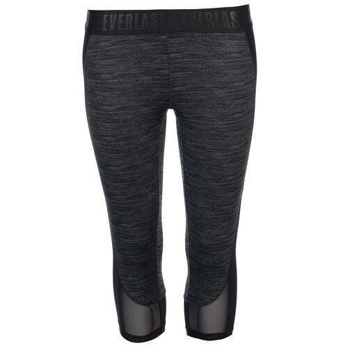 EVERLAST PERFORMANCE CAPRI LEGGINGS DONNA CHARCOAL MARL