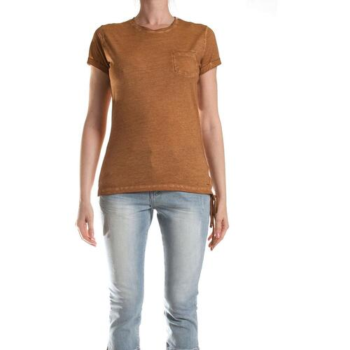 CARRERA T-SHIRT STAMPATA IN JERSEY DONNA MARRONE