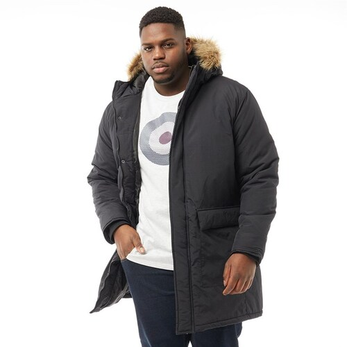 FRENCH CONNECTION PARKA UOMO BLACK/BROWN