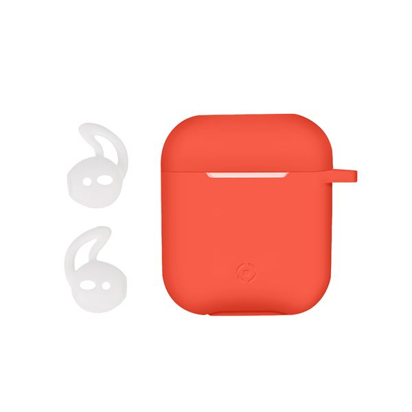 Aircase Custodia in Silicone per Auricolari AirPods Colore Arancione