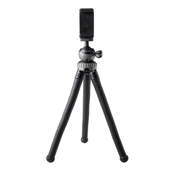 Celly Click Flextri treppiede Smartphone/fotocamera di azione 3 gamba/gambe Nero
