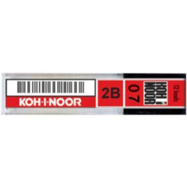 confezione da 12 pezzi - astuccio 12 micromine 0,7mm 2b e207 kohinoor