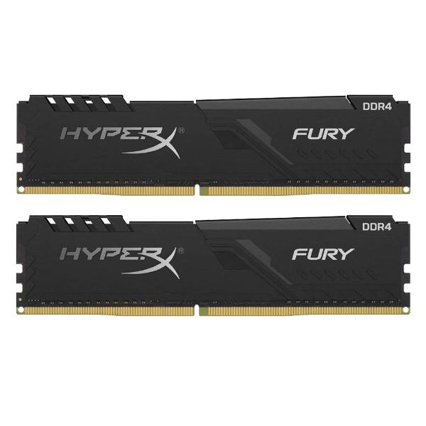 DDR4 16GB KIT 2x8GB PC 2400 Kingston HyperX FURY Black HX424C15FB3K2/16