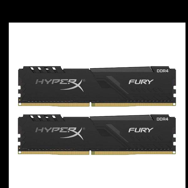 DDR4 16GB KIT 2x8GB PC 2666 Kingston HyperX FURY Black HX426C16FB3K2/16