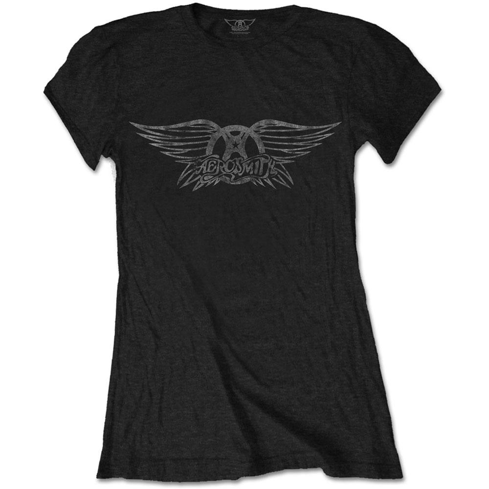 Abbigliamento Aerosmith: Vintage Logo (T-Shirt Donna Tg. L) NUOVO SIGILLATO SUBITO DISPONIBILE