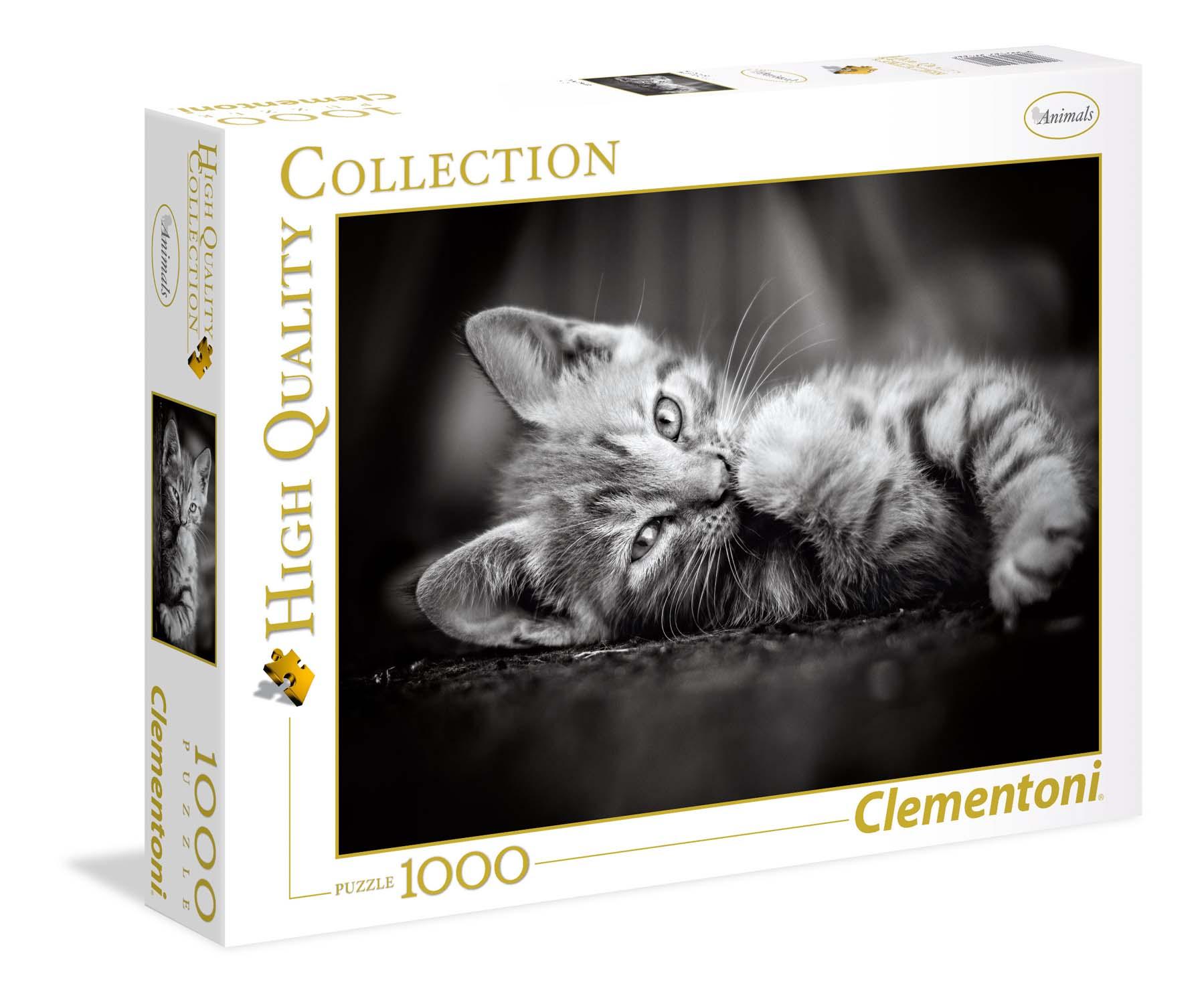 Merchandising Clementoni: Puzzle 1000 Pz - High Quality Collection - Kitty NUOVO SIGILLATO, EDIZIONE DEL 07/03/2018 DISPO ENTRO UN MESE, SU ORDINAZIONE