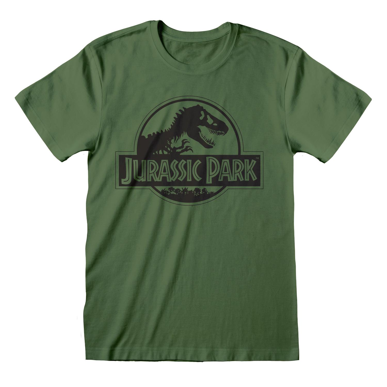 Abbigliamento Jurassic Park: Mono Logo (T-Shirt Unisex Tg. M) NUOVO SIGILLATO SUBITO DISPONIBILE