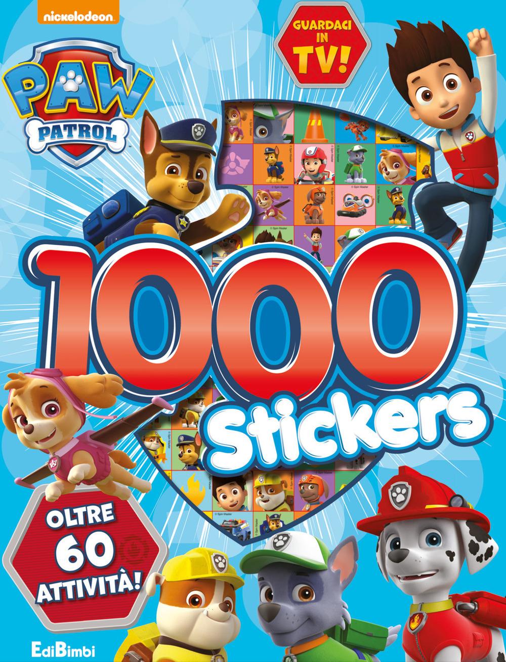 Libri 1000 Stickers. Paw Patrol. Con Adesivi. Ediz. A Colori NUOVO SIGILLATO, EDIZIONE DEL 30/07/2020 SUBITO DISPONIBILE