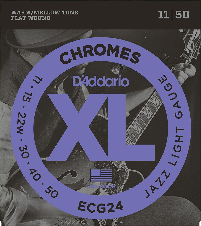 D'ADDARIO ECG24 - CORDE PER CHITARRA ELETTRICA  (SCALATURA 11-50)