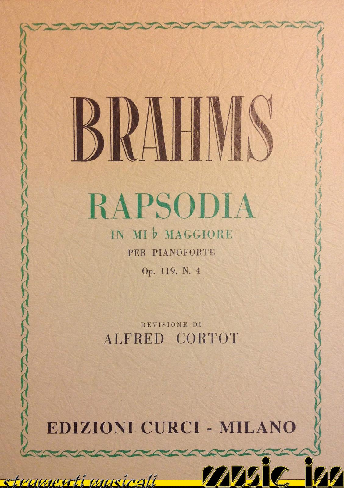 CURCI Rapsodia in Mib maggiore per pianoforte op. 119 n. 4 - BRAHMS