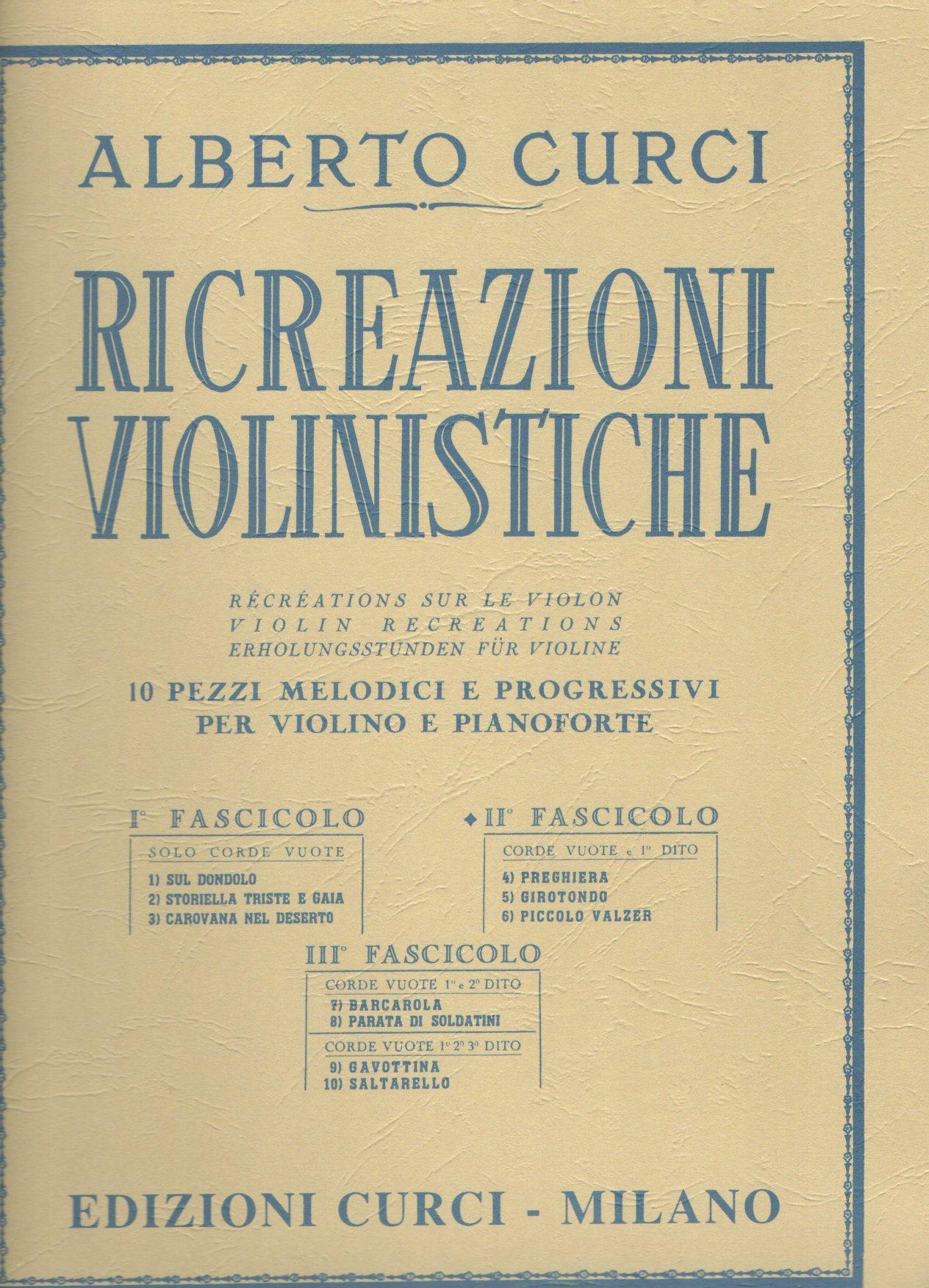 CURCI RICREAZIONI VIOLINISTICHE II FASCICOLO -