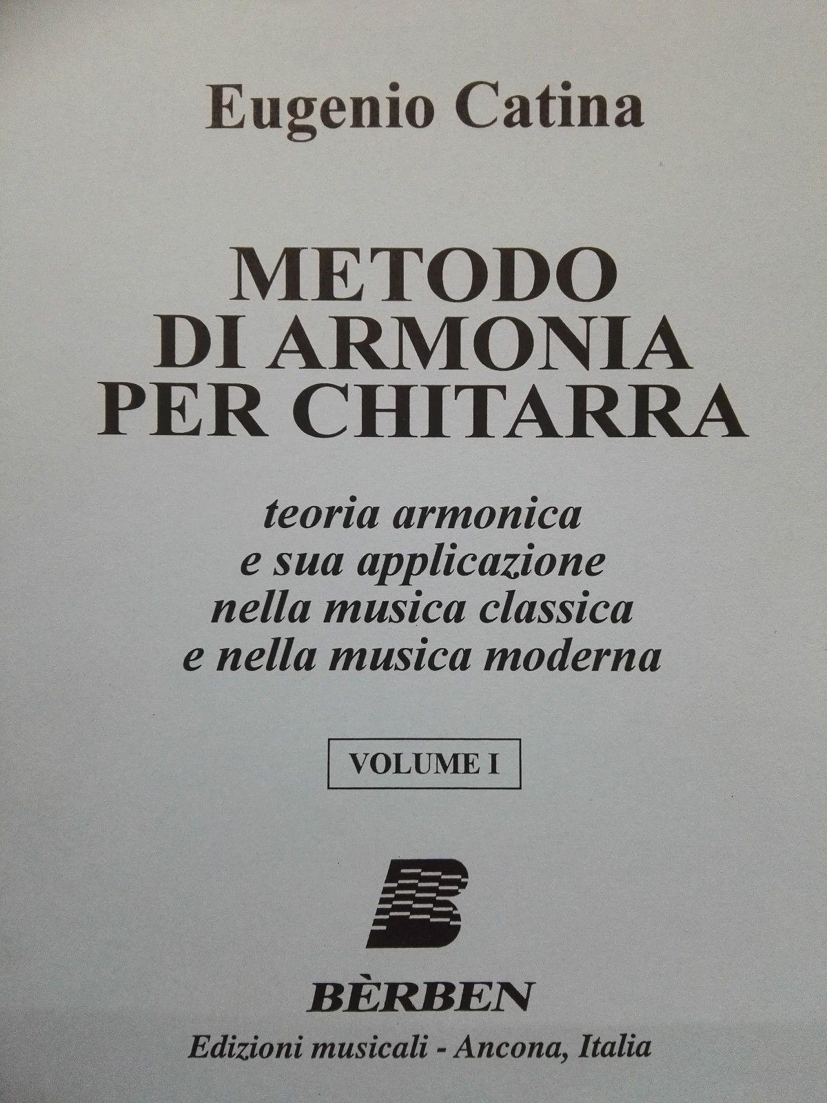 BERBEN Metodo di armonia per chitarra Volume I - CATINA